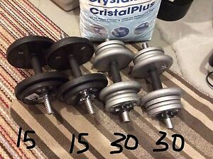 "2 Sets of Adjustable Dumbbells (1"" Hole)"