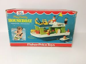 Fisher Price vintage Little People Houseboat