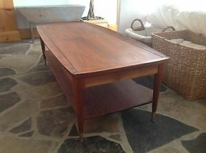 Mid century teak or mahogany coffee table