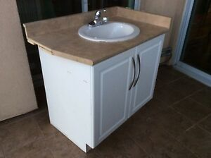 bathroom vanity with faucet and toilet - Bathroom Cabinets Kelowna