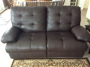 Reclining Leather Sofa & Love Seat