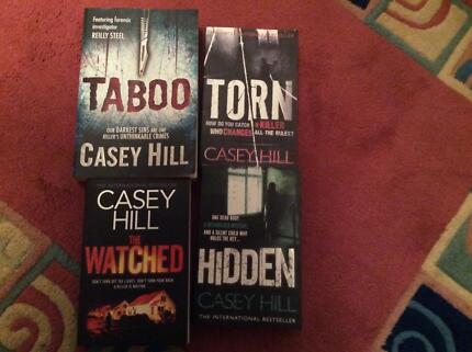 CASEY HILL,  Taboo, Hidden, Torn, Watched. Crime, serial killer.