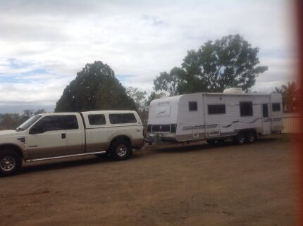 F250+ 2010 28ft Spaceland caravan Alton Downs Rockhampton Surrounds Preview