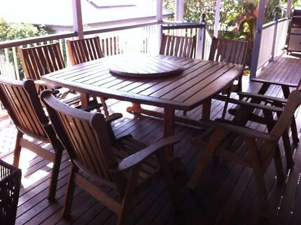 Outdoor Setting 9 piece kwila