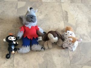 Bulk lot of kids soft toys including a FuReal friend and fingerling
