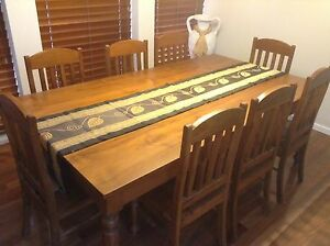 9 piece Dining setting plus Buffet & Hutch - must sell ASAP New Lambton Heights Newcastle Area Preview