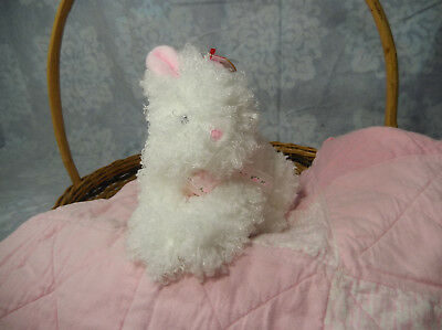 """8"""" TY Beanie Baby Hutch Clutch White Bunny Rabbit Hare Plush 2005 for sale  Shipping to India"""