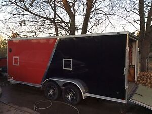 Enclosed MX/Snowmobile Toy Hauler Trailer