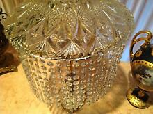 Antique , vintage Large French dome crystal lamp Edithvale Kingston Area Preview