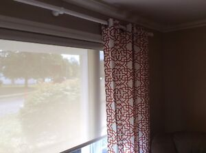 4 curtain panels, like new condition