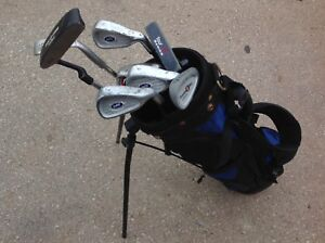 junior golf bag with clubs- $25