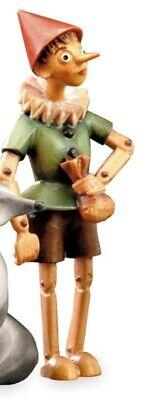Escultura Pinocho cm 8 Tallada en Madera de en Val Gardena Decoro a Mano, usado segunda mano  Embacar hacia Spain