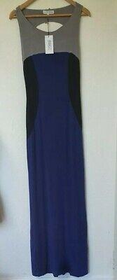 BNWT Jonathan Saunders Lunain Maxi Long Tall Backless Dress Size 42 12 14