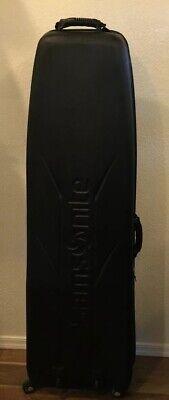 "Samsonite Luggage Black 53"" Spinner Wheels Hard Red Inside Light Use Golf Clubs"