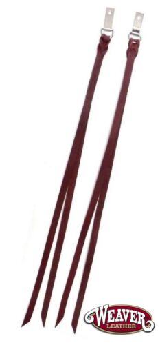 """Latigo Saddle Strings 2 Pack with Clips and Dees 1/2"""" x 24"""" New Free Shipping"""