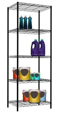 Black Basic Wire Shelves - Home Basics NEW Black 5 Tier Layer Wire Shelf Organize Garage Shelving - WS00695