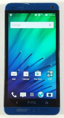 HTC One M7 32GB Blue (AT&T) Fair Condition Good IMEI