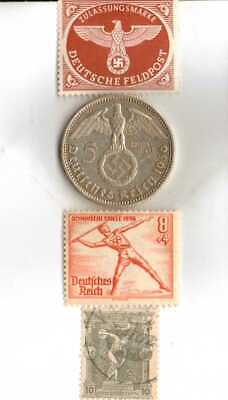 #-10)-1936-*german  Olympic and WWII stamps/coin.900%+1896-*greek Olympic stamp