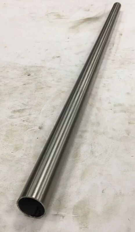 """304 304L Welded Stainless Steel Round Tube 1"""" OD x 0.049"""" Wall x 30"""" Length"""