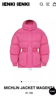 IENKI IENKI Pink Down Michlin Jacket Celeb Favorite!  Original $1395
