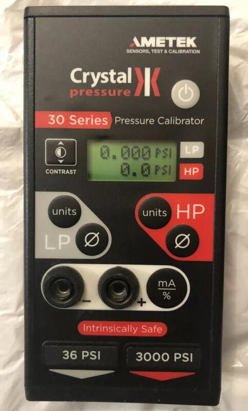 Ametek Crystal Pressure Calibrator 30 Series IS33-36/3000psi EUC