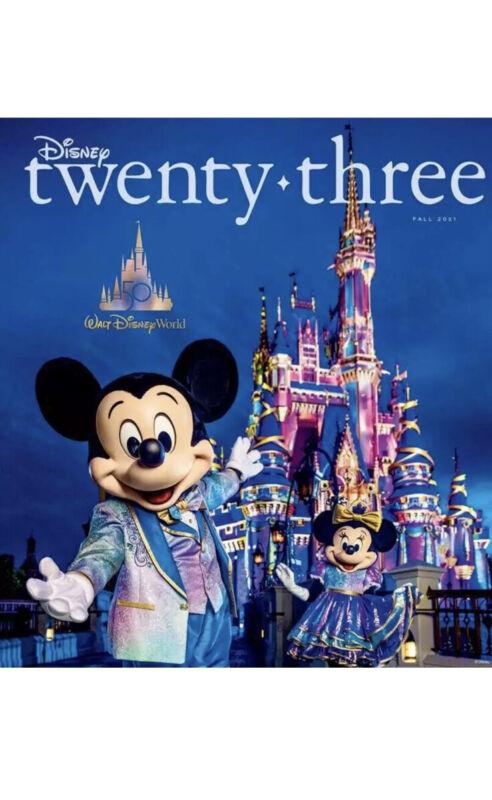 💙 Disney D23 Twenty-Three Magazine Fall 2021 WDW 50th Anniversary NEW SEALED