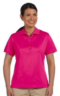 Devon & Jones Women's New Casual 100% Cotton Short Sleeve Polo Shirt Tee. D440W Devon And Jones Cotton Shirt