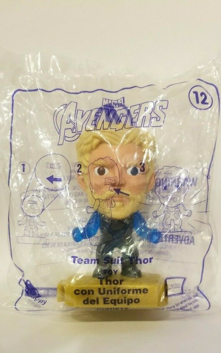 Avengers (2019) McDonalds Happy Meal Toys- Fast Shipping! #12 Team Suit Thor