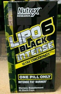 Nutrex Research Lipo-6 Black INTENSE 60 Capsules Ultra Concentrate Free shipping