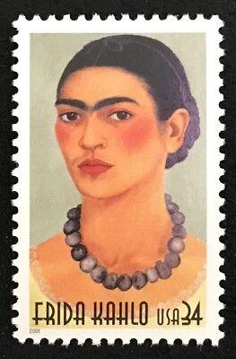 2001 Scott #3509 34¢ - FRIDA KAHLO - Artist - Single Stamp - Mint NH