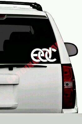 "EDC Electric Daisy Carnival Music Festival White 5"" Wide Vinyl Decal Sticker"