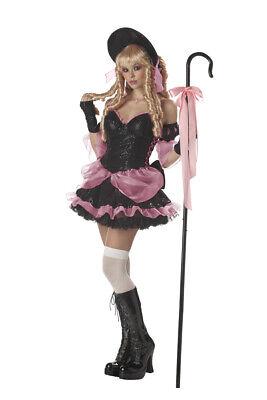 Little Bo Peep Costume 5Pc Blk/Pk Sequin Mini - Kostüme Little Bo Peep