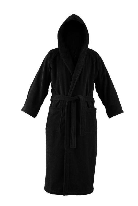 mens hooded bathrobe ebay. Black Bedroom Furniture Sets. Home Design Ideas