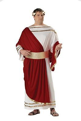 Julius Caesar Greek Roman Empire Toga Adult Plus Size Costume - Greek Costume Men
