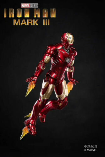 """ZD TOYS Birth of Iron Man MK 3 Mark III 7/"""" Action Figure Marvel Comic Toys Gifts"""