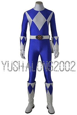 Mighty Morphin Power Rangers ZYURANGER Billy Blau Blue Cosplay Kostüm - Morphin Power Ranger Kostüm