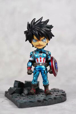 ONE PIECE Monkey D Luffy Captain America Ver. PVC Figure Toy Gift  No Box