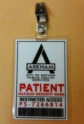 Batman Gotham  ID Badge-Arkham Asylum Patient cosplay prop costume](Arkham Asylum Costume)