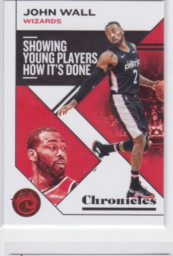 2019-20 PANINI CHRONICLES WASHINGTON WIZARDS JOHN WALL BRONZE PARALLEL NO. 38