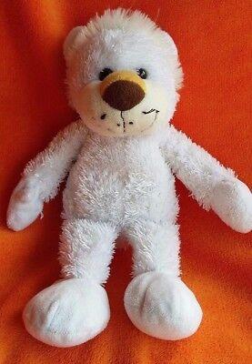 """Tesco White Lion Bear Soft Toy Comforter Doudou Hug Toy 12"""""""