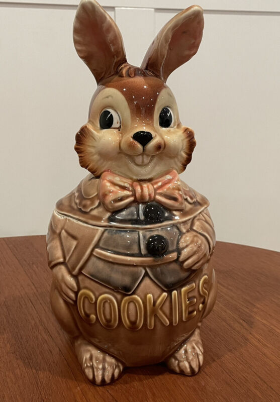 Vintage Royal Sealy Rabbit Bunny Cookie Jar Made In Japan