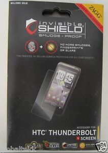 Zagg InvisibleSHIELD Clear Smudge Proof Screen Protector for HTC Thunderbolt