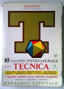 10-SALONE-INTERNAZIONALE-DELLA-TECNICA-CATALOGO-UFFICIALE-TORINO-1960