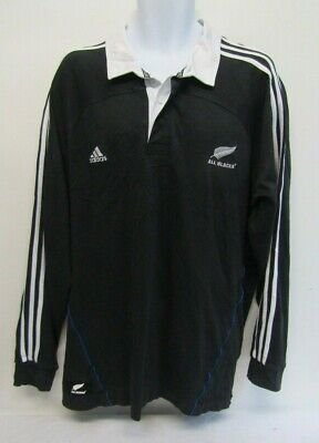 ADIDAS ALL BLACKS NEW ZEALAND RUGBY SHIRT TOP SIZE XL BLACK