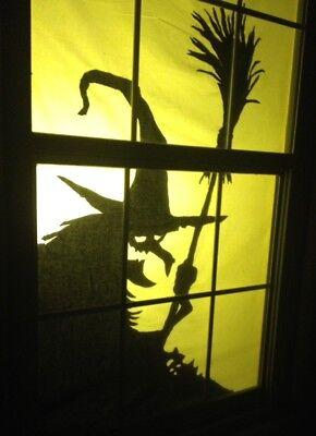 Window Silhouette Halloween (Halloween Window Silhouettes Decor - 9 Styles to Choose)