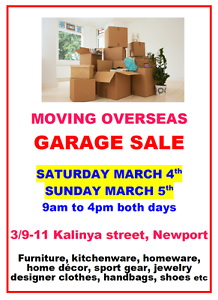 Garage Sale, Moving overseas Newport Pittwater Area Preview