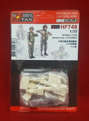 Hobby Fan HF-748  1/35 ROC Marine Corps LVTH6 Vehicle Crew - 2 Fig. for (Marines Armored Vehicle)