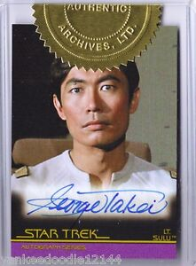 Star Trek TOS The Complete Movies George Takei Sulu Autograph Card Auto #A20