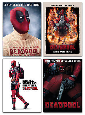 DEADPOOL Movie - 4 Card Promo Set - RYAN REYNOLDS