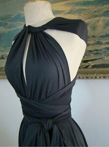 Womens Black Wedding CONVERTIBLE Jumpsuit Romper Summer Palazzo Formal / Casual